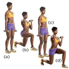 lunge-with-biceps-curl